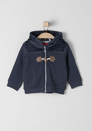 Hooded sweatshirt with plush from s.Oliver