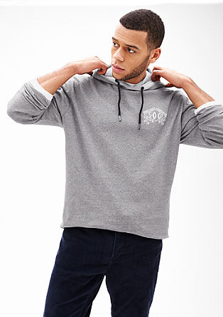 Hooded top with a tie from s.Oliver