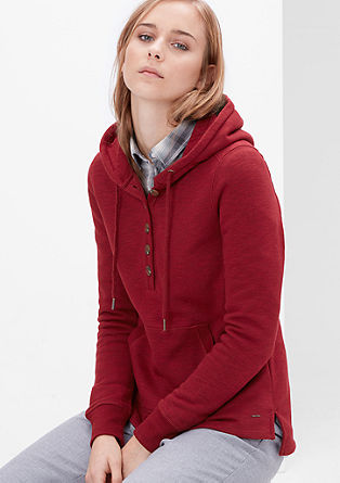Hooded top with buttons from s.Oliver