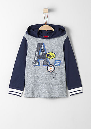 Hooded top with patches from s.Oliver