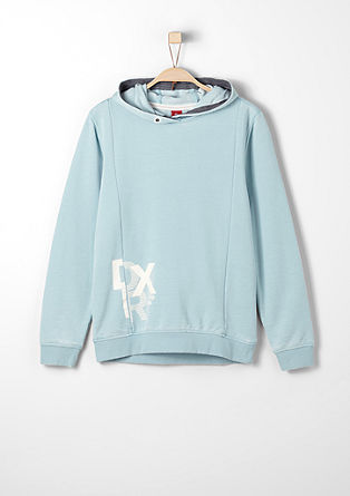 Hoodie in a faded wash from s.Oliver