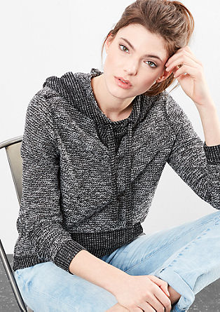 Hoodie in a knit look from s.Oliver