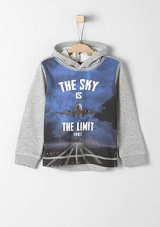 Hoodie with a distinctive print from s.Oliver