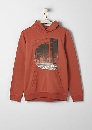 Hoodie with a print from s.Oliver