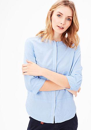Hooggesloten katoenen blouse