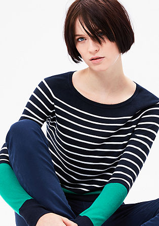Hooped jumper with contrast stripes from s.Oliver