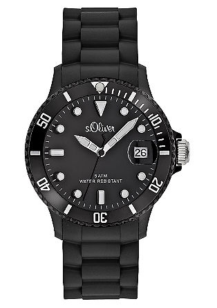 Horloge met een armband van silicone