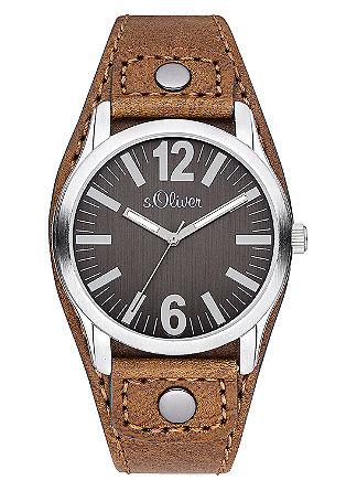 Horloge met een coated leren armband