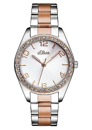 Horloge met een deels matte tint. In bicolor roségold