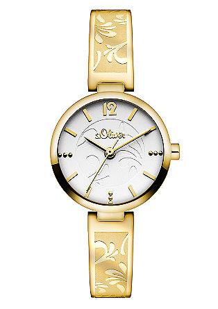 Horloge met een gestanste edelstalen armband