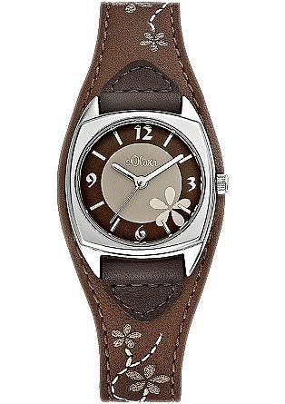 Horloge met een gestikt motief