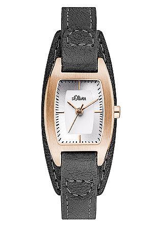 Horloge met een leren armband en IP rose gold