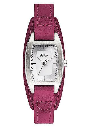 Horloge met een opvallende leren armband