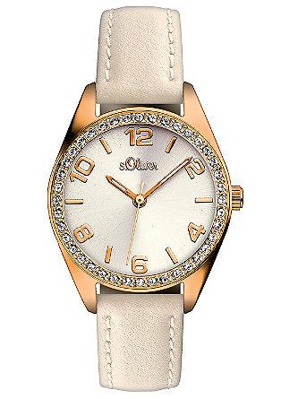 Horloge met fonkelende strassteentjes