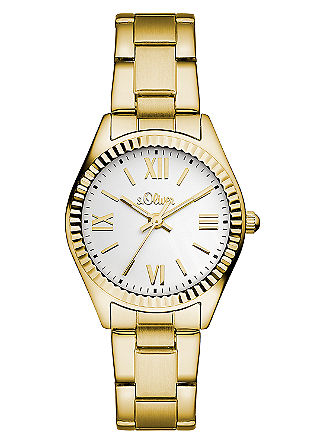 Horloge met geribbelde ring