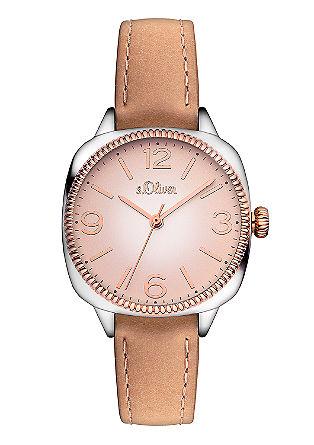 Horloge met horlogering met IP rose plating
