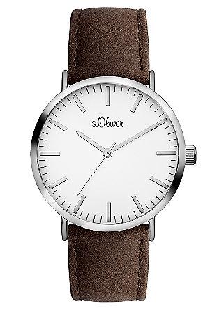 Horloge met leren bandje
