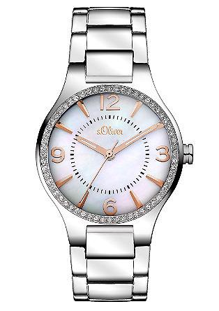 Horloge met parelmoeren cijferplaat
