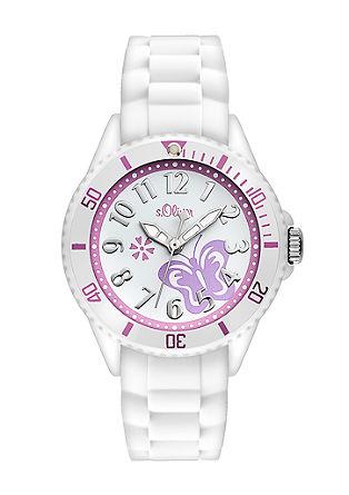 Horloge met siliconen band in vlinderlook