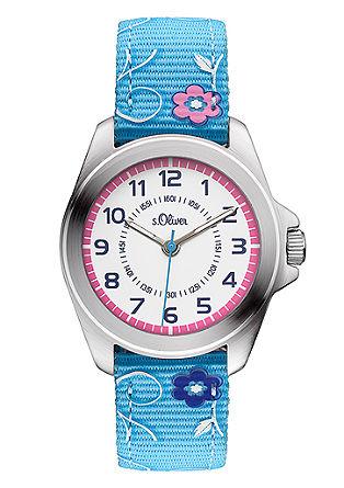 Horloge voor kids met canvas bandje