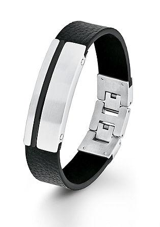 Identband aus schwarzem Leder