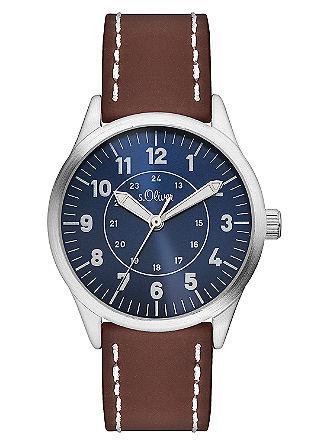 Imitatieleren horloge van silicone