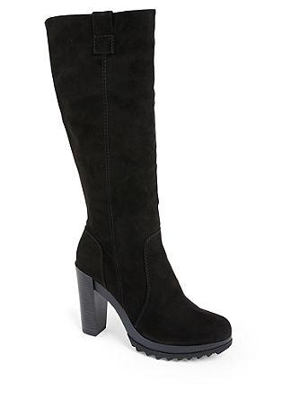 Imitatiesuède laarzen met een plateauzool