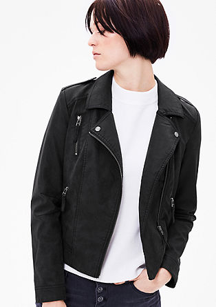 Imitation leather biker jacket from s.Oliver