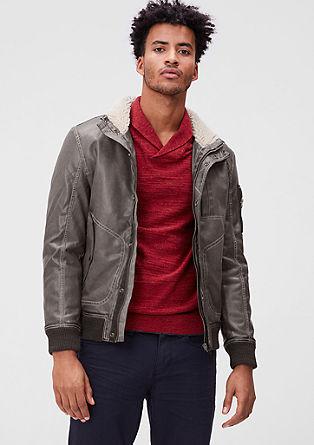 Imitation leather bomber jacket from s.Oliver
