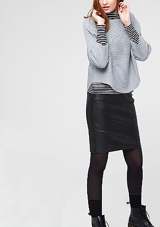 Imitation leather skirt from s.Oliver