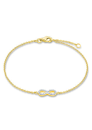 Infinity-Armband aus Gold