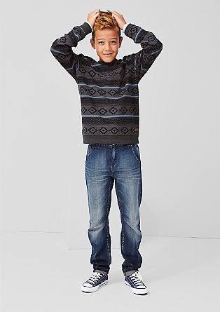 Inside-out sweatshirt with a printed pattern from s.Oliver