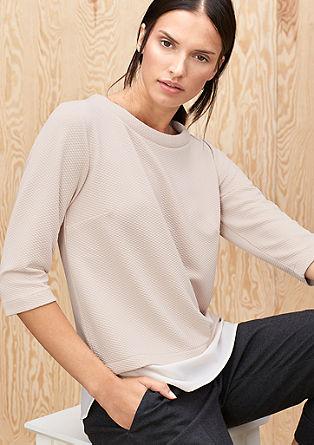 Interlock-Shirt mit Steppmuster