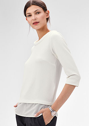 Interlock top with a topstitched pattern from s.Oliver