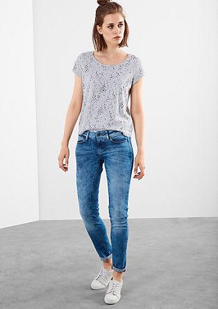 Izjemno ozke jeans hlače Superskinny: Marogasto sprane jeans hlače