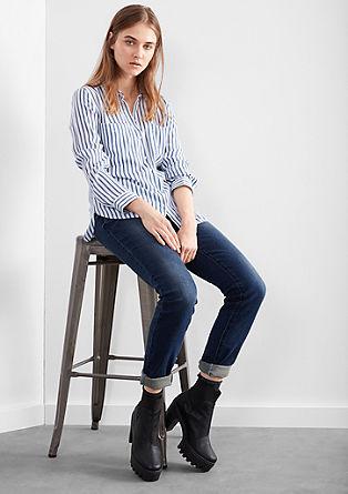 Izjemno ozke jeans hlače Superskinny: ozke jeans hlače obrabljenega videza