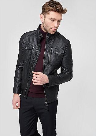 Jacke aus Lederimitat