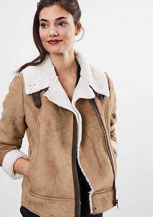 Jacket in a shearling look from s.Oliver