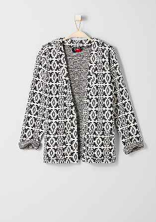 Jacket with a jacquard pattern from s.Oliver