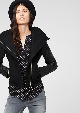 Jacket with imitation leather details from s.Oliver