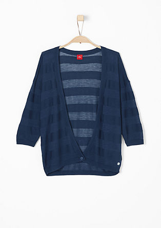 Jacket with sheer stripes from s.Oliver