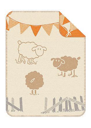 Jacquard-Babydecke mit Schafen