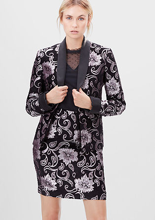 Jacquard blazer in a floral design from s.Oliver