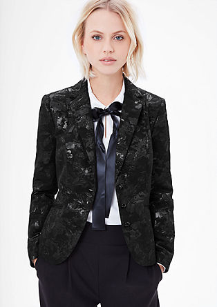 Jacquard blazer in a lace look from s.Oliver