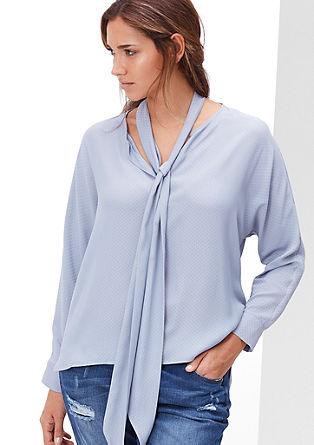 Jacquard blouse met strik