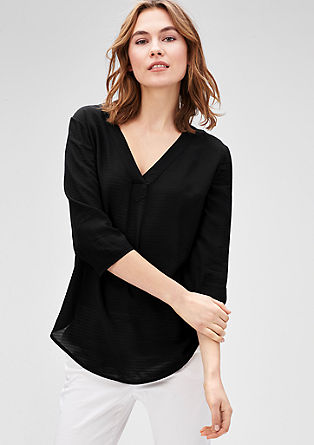 Jacquard blouse with fine stripes from s.Oliver
