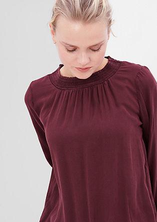 Jacquard-Bluse mit Bündchen