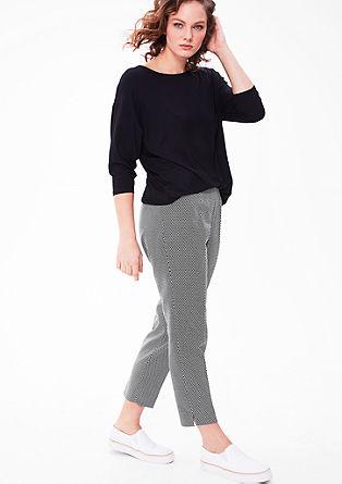 Jacquard broek in black & white