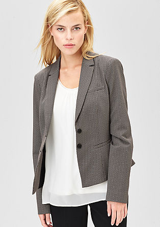 Jacquard business blazer from s.Oliver