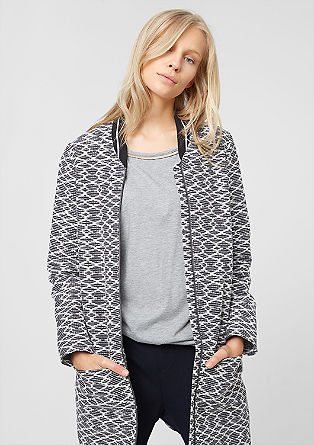Jacquard coat with a zip from s.Oliver